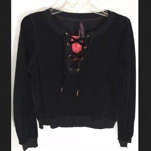 Betsey Johnson Pullover velour Sweatshirt